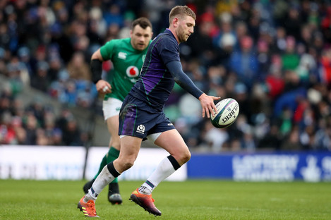 Russell facing Ireland at Murrayfield.