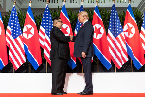 U.S President Donald Trump Meets North Korean Leader Kim Jong Un last June