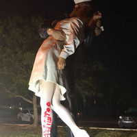 Police investigate after statue of US sailor kissing nurse is spray-painted with '#MeToo'