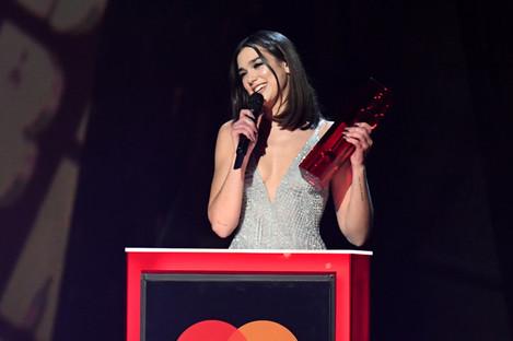 Dua Lipa at the 2018 Brit Awards.