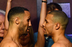 DeGale and Eubank exchange words at frosty weigh-in for all-British grudge match