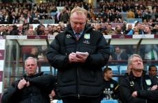 Aston Villa sack Alex McLeish after disappointing season