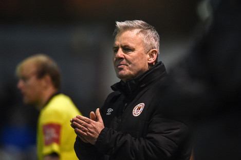 St Patrick's Athletic manager Harry Kenny.