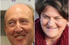 Arlene Foster calls for 'neighbourliness' as she poses with Shane Ross in the Ballroom of Romance