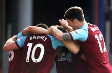 Barnes late strike shocks Tottenham at Turf Moor