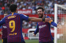 Messi marks 50th career hat-trick as Barcelona beat Sevilla