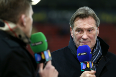 Glenn Hoddle, working with BT Sport in 2016.