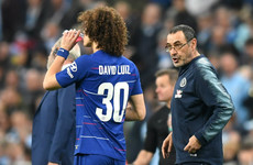 'I love the way he plays, the way he is as a man' - Luiz offers Sarri support
