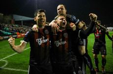 Corcoran penalty seals another derby win for Bohs against ten-man Rovers