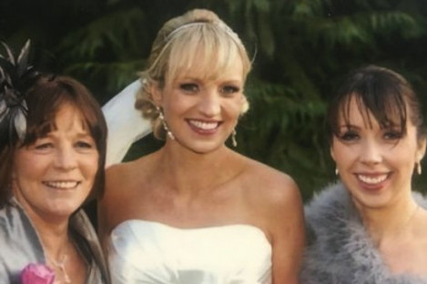 Clodagh Hawe with her sister Jacqueline and mother Mary