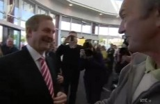 Video, audio: Kenny tells protester 'You could do with a day's work, I'd say'