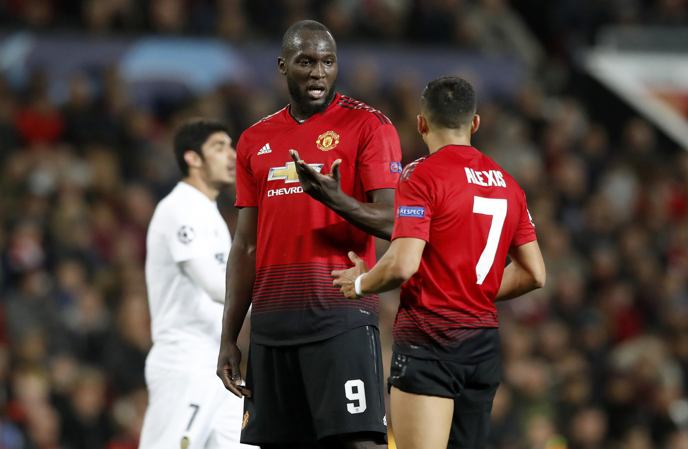 Image result for solskjaer lukaku sanchez