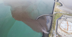 A faulty sewage tank caused effluent to pour into Dublin Bay over the weekend