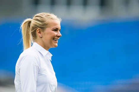 Ada Hegerberg, pictured ahead of last year's Champions League final.
