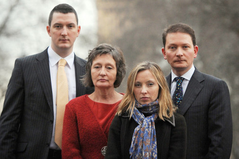 The family of Pat Finucane, sons John and Michael, daughter Katherine, and wife Geraldine, pictured in London in 2012