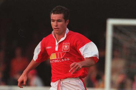 Morrisroe in action for St Patrick's Athletic in 1996.