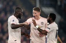 Lukaku braces helps Manchester United to comfortable victory at Selhurst Park