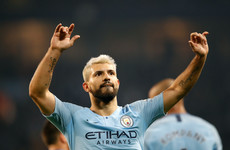 Aguero penalty enough for below-par City to keep pressure on Liverpool