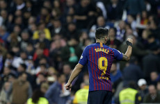 Suarez strikes twice as Barca batter Real Madrid in Copa semi-final