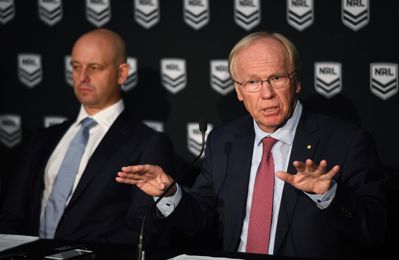 707bbc84b Australian Rugby League Commission Chairman Peter Beattie addressing the  media.