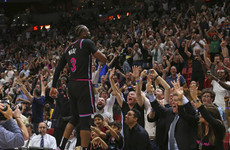A feint, a block and the win: Warriors beaten by incredible buzzer-beating three from Dwyane Wade