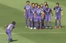 The only thing better than this incredible 75-yard strike is the silly celebration afterward