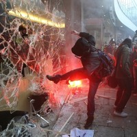 Sound familiar? Student protest in London turns nasty
