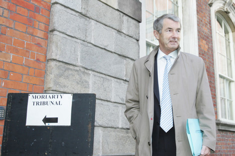 Former FG Minister for Communications Michael Lowry arriving at the Moriarty Tribunal in 2007.