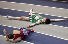 Disastrous start for Ireland in Glasgow as Greene takes a fall and Barr finishes last