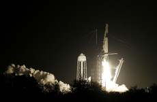 A rocket that will bring US astronauts back to space has blasted off with a dummy named 'Ripley'
