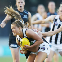 Mayo star Rowe nails difficult kick for first AFLW goal in stunning performance