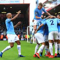 Man City go top of the Premier League ahead of Merseyside derby as Mahrez downs Cherries