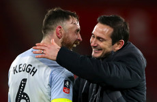 Lampard hails 'incredible professional' Keogh ahead of milestone appearance