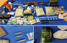 Two men arrested after gardaí seize drugs, replica guns and three samurai swords in Finglas