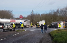 Road closed in Cork after collision between two trucks