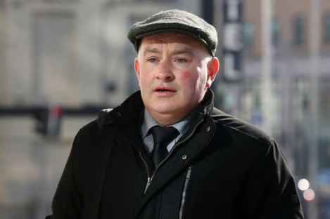 Farmer Patrick Quirke arriving at the Central Criminal Court in Dublin.