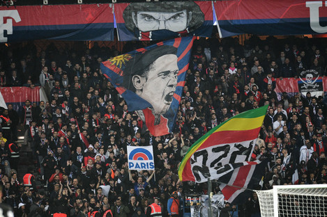 A general shot of the crowd at Parc des Princes on Wednesday.