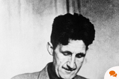 "Author Eric Arthur Blair, better known by his pen-name, ""George Orwell"""
