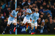Raheem Sterling scores 14-minute hat-trick as Man City beat Watford to extend lead at the top