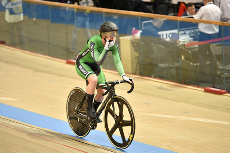 Ireland's Lydia Boylan wins silver at the World Cycling Track Championships.