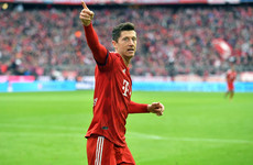 Lewandowski reaches landmark feat in six-goal rout as Bayern leapfrog Dortmund to go top