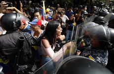 Guaido supporters square up to Venezuelan police amid electricity blackout