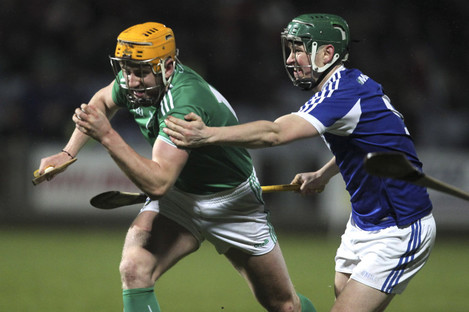 Seamus Flanagan in action for Limerick at O'Moore Park.