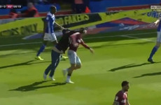 Disgraceful scenes in Second City derby as fan invades pitch and assaults Grealish from behind