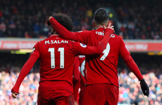 Firmino and Mané on the double as Liverpool cut City's lead to a single point
