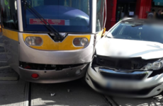 Delays to Luas Red Line after car collides with tram