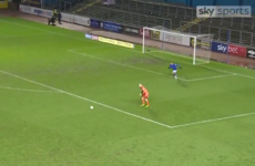 League Two keeper gets ruined as opponent sneaks up from behind to score cheeky goal