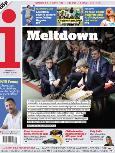 'Meltdown': UK papers point finger at Theresa May after chaotic night in Westminster