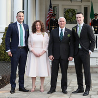 Varadkar speaks of being judged by 'political actions not sexual orientation' as he meets Pence