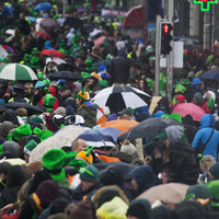 The St Patrick's Day forecast is bleak with hail and thunder expected